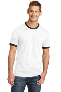 Port & Company® Core Cotton Ringer Tee.-