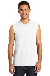 Port & Company ® Core Cotton Sleeveless Tee.-Port & Company