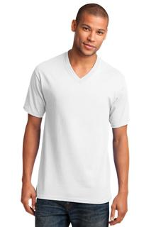 Port & Company Core Cotton V-Neck Tee.-