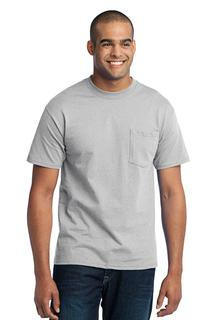 Port & Company Tall Core Blend Pocket Tee.-