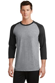 Port & Company® Core Blend 3/4-Sleeve Raglan Tee.-