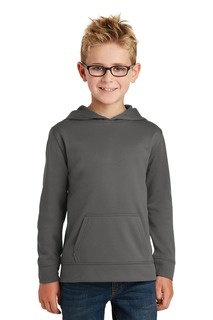 Port & CompanyYouth Performance Fleece Pullover Hooded Sweatshirt.-