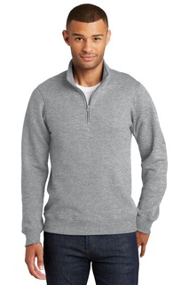 Port & Company Fan Favorite Fleece 1/4-Zip Pullover Sweatshirt.-