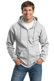Port & Company® Tall Essential Fleece Full-Zip Hooded Sweatshirt.-