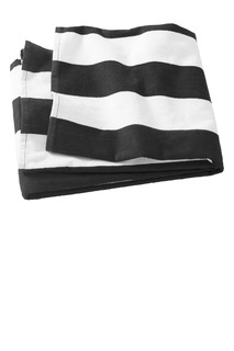 Port Authority® Cabana Stripe Beach Towel.-Port Authority