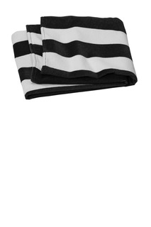 Port Authority Corporate Hospitality Accessories ® Value Cabana Stripe Beach Towel-Port Authority