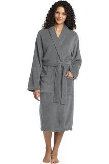 Port Authority® Plush Microfleece Shawl Collar Robe.-Port Authority