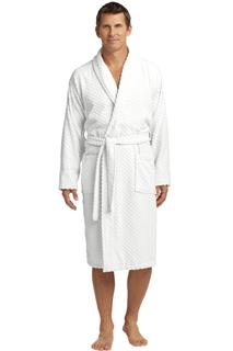 Port Authority® Checkered Terry Shawl Collar Robe.-Port Authority