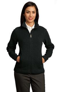 Red House® - Ladies Sweater Fleece Full-Zip Jacket.
