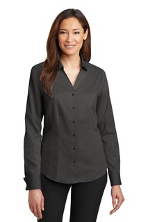 Red House® - Ladies French Cuff Non-Iron Pinpoint Oxford Shirt.