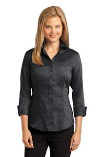 Red House® Ladies 3/4-Sleeve Nailhead Non-Iron Shirt.