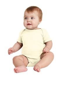 Rabbit Skins Infant Short Sleeve Baby Rib Bodysuit.-Rabbit Skins