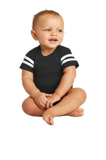 Rabbit Skins Infant Football Fine Jersey Bodysuit.-