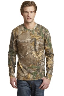 Russell Outdoors Realtree Long Sleeve Explorer 100% Cotton T-Shirt with Pocket.-Russell Outdoor