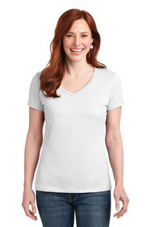 Hanes® Ladies Nano-T® Cotton V-Neck T-Shirt.-