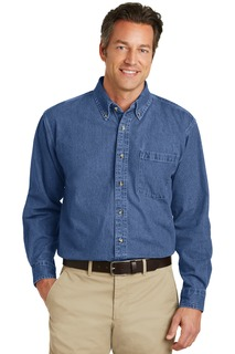 Port Authority Heavyweight Denim Shirt.-