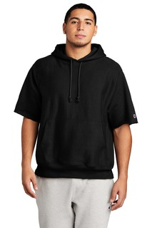 Champion Reverse Weave Short Sleeve Hooded Sweatshirt-Port Authority