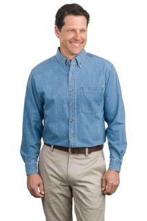Port Authority® Long Sleeve Denim Shirt.-Port Authority