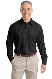 Port Authority Hospitality Tall Woven Shirts ® Tall Non-Iron Twill Shirt.-Port Authority