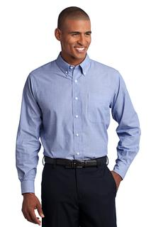 Port Authority Tall Crosshatch Easy Care Shirt.-
