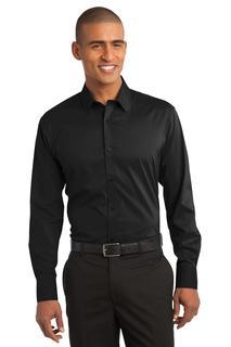 Port Authority® Stretch Poplin Shirt.-Port Authority
