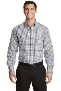 Port Authority® Long Sleeve Gingham Easy Care Shirt.-