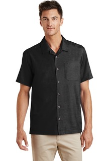 Port Authority® Textured Camp Shirt.-Port Authority