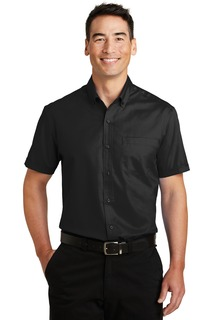 Port Authority Woven Shirts for Hospitality ® Short Sleeve SuperPro Twill Shirt.-Port Authority