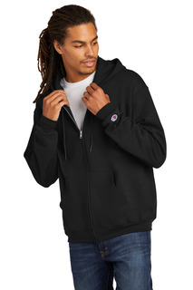 Champion Eco Fleece Full-Zip Hoodie.-Jerzees