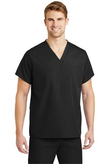 Unisex V-neck Scrub Top-CornerStone