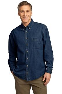 Port & Company® - Long Sleeve Value Denim Shirt.-Port & Company