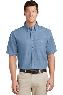 Port & Company® - Short Sleeve Value Denim Shirt.-Port & Company