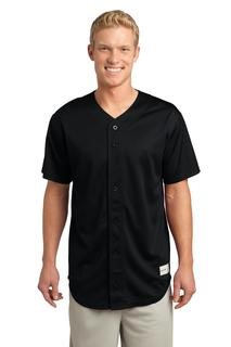 Sport-Tek® PosiCharge® Tough Mesh Full-Button Jersey.-Sport-Tek