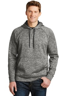 Sport-Tek® PosiCharge® Electric Heather Fleece Hooded Pullover.-