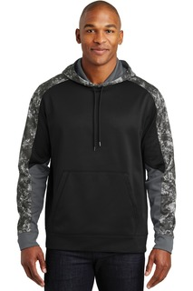 Sport-Tek® Sport-Wick® Mineral Freeze Fleece Colorblock Hooded Pullover.-