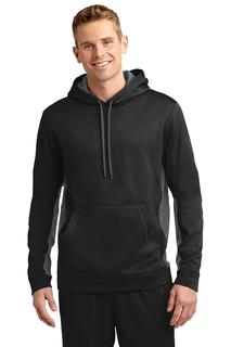 Sport-Tek® Sport-Wick® Fleece Colorblock Hooded Pullover.-