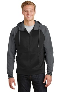 Sport-Tek® Sport-Wick® Varsity Fleece Full-Zip Hooded Jacket.-