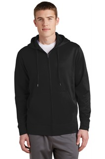 Sport-Tek® Sport-Wick® Fleece Full-Zip Hooded Jacket.-