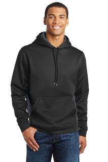 Sport-Tek® Sport-Wick® CamoHex Fleece Colorblock Hooded Pullover.-