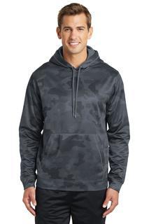 Sport-Tek® Sport-Wick® CamoHex Fleece Hooded Pullover.-Sport-Tek