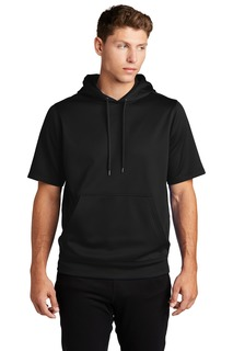 Sport-Tek Sport-Wick Fleece Short Sleeve Hooded Pullover.-