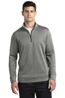 Sport-Tek ® PosiCharge ® Sport-Wick ® Heather Fleece 1/4-Zip Pullover.-