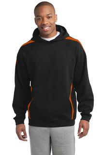 Sport-Tek Sleeve Stripe Pullover Hooded Sweatshirt.-
