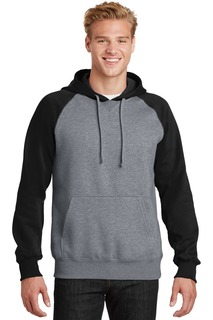 Sport-Tek® Raglan Colorblock Pullover Hooded Sweatshirt.-