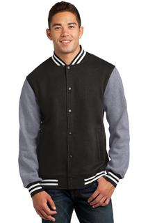 Sport-Tek® Fleece Letterman Jacket.-
