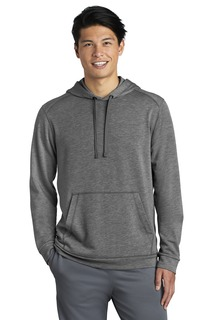 Sport-Tek PosiCharge Tri-Blend Wicking Fleece Hooded Pullover.-
