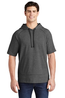 Sport-Tek ® PosiCharge ® Tri-Blend Wicking Fleece Short Sleeve Hooded Pullover-