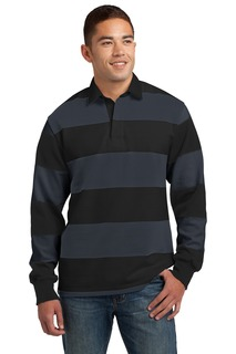 Sport-Tek® Classic Long Sleeve Rugby Polo.-