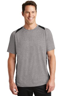 Sport-Tek® Heather Colorblock Contender Tee.-