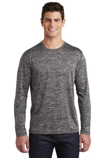 Sport-Tek Hospitality T-Shirts ® PosiCharge ® Long Sleeve Electric Heather Tee.-Sport-Tek